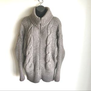Anthropology Elsamanda Sweater Alpaca Cable